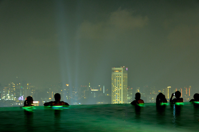 Just enjoying the city lights from infinity pool, MBS, Singapore