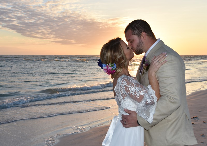 Beautiful intimate wedding at Lido Beach, FL
