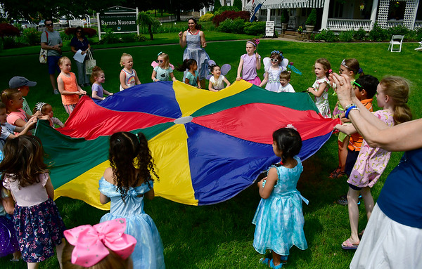 6/1/2019 Mike Orazzi | Staff Yard games during a Fairy Tea Party at the Barnes Museum in Southington on Saturday.