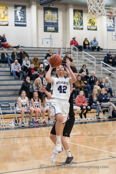 2019 Girls JV Basketball vs. St. Helens