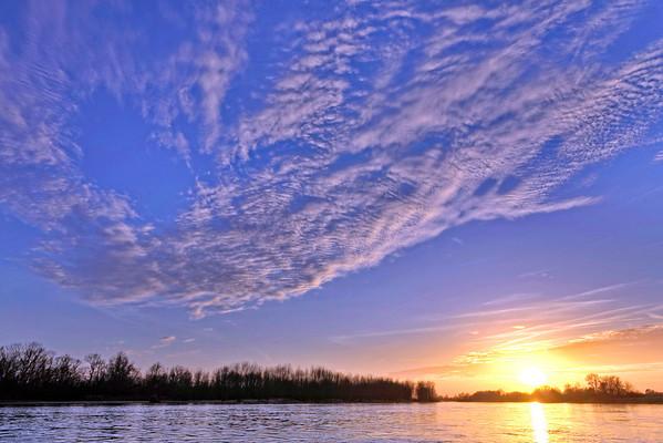 Coucher de soleil sur la Loire - Pointe de Courpin