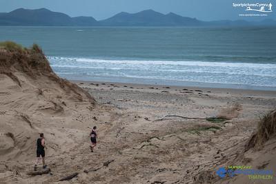 Superfeet Sandman Triathlon  - Run on Sand Dunes Before Beach