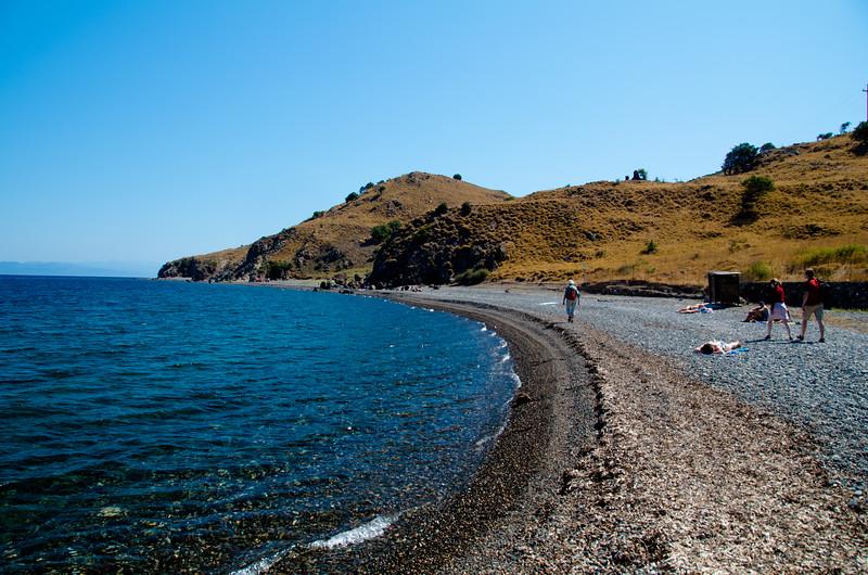 Eftalau beach, Lesvos, Greece.