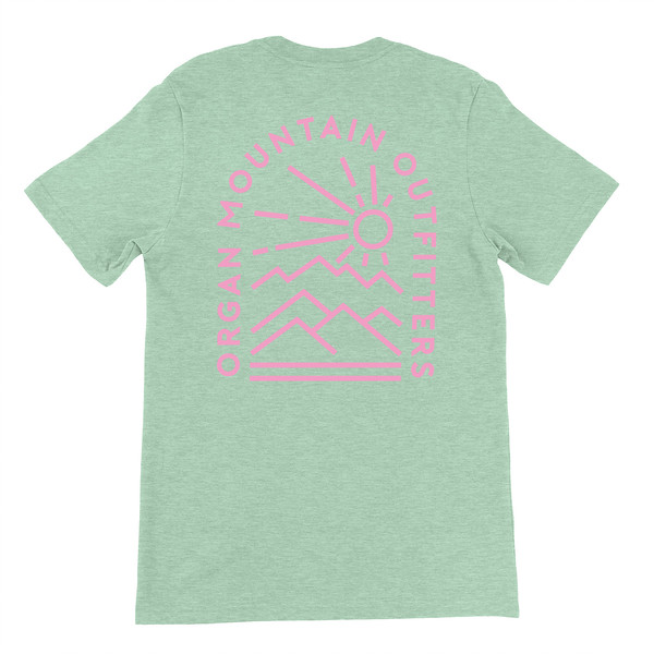 Organ Mountain Outfitters - Outdoor Apparel - Unisex T-Shirt - Elevation Tee - Heather Prism Mint Back.jpg