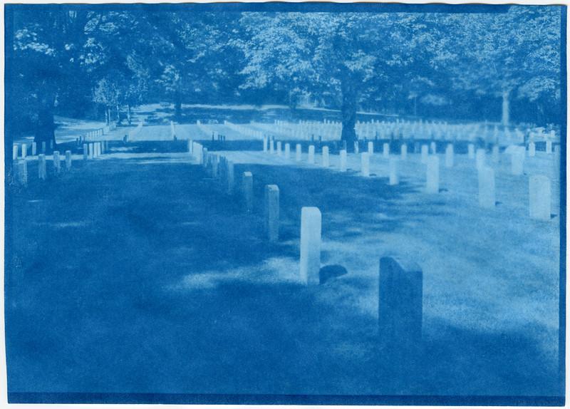 Cyanotype from 5x7 Paper Negative