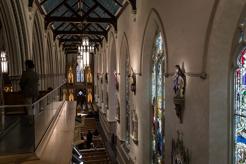 Looking Down the Nave from The Balcony