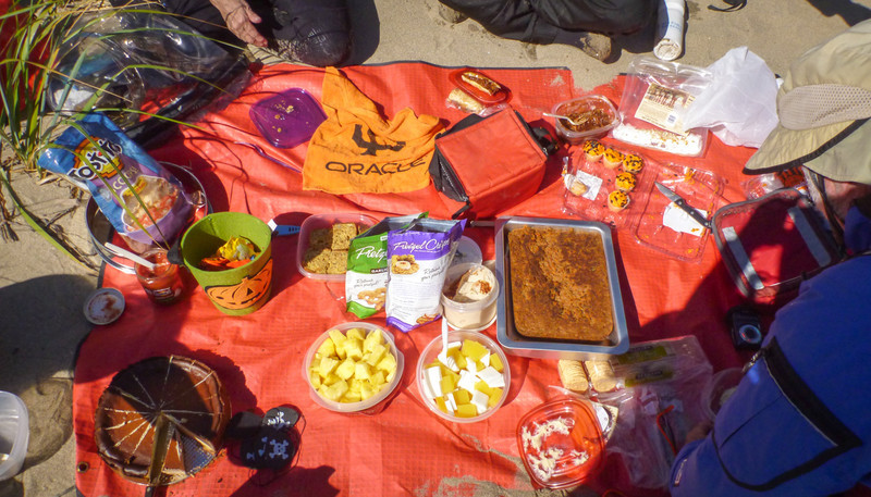 Only half of the sugar-coma-inducing potluck on the beach.