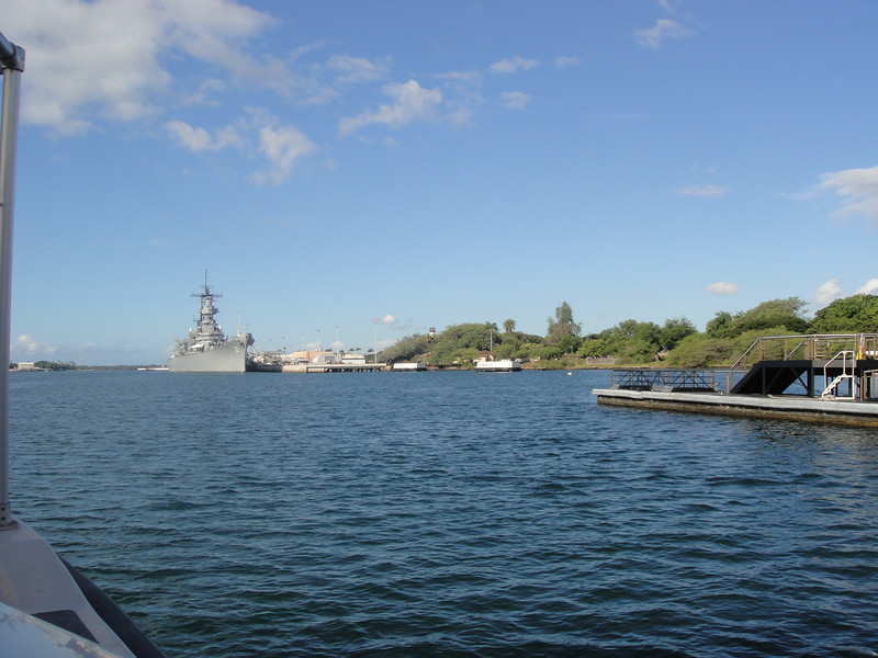 USS Missouri From The Water
