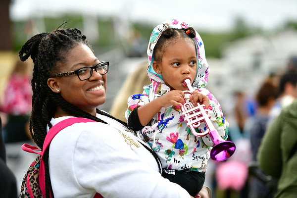9/14/2019 Mike Orazzi | StaffrLaquelle Washington and her daughter Chanel,2, while at the Berlin Fair on Saturday afternoon.