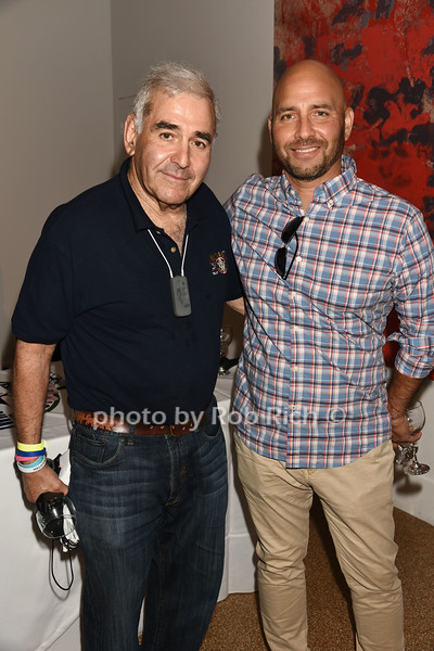 Andy Sabin and Frank Quevedo attend Dan's Rose' Soiree at the Southampton Arts Center in Southampon on May 28, 2017.