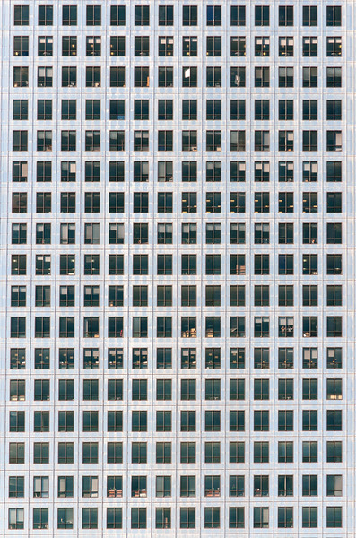 Facade of Canary Wharf Skyscraper