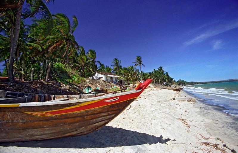 Boat on White-sand Beach, Mui Ne