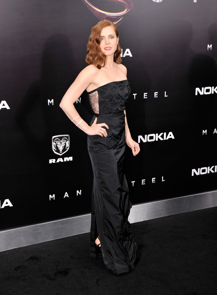 """. Actress Amy Adams attends the \""""Man Of Steel\"""" world premiere at Alice Tully Hall at Lincoln Center on June 10, 2013 in New York City.  (Photo by Stephen Lovekin/Getty Images)"""