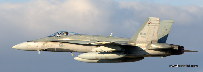 CF-18 from Bagotville Quebec arriving at London International Airport for the Jet Aircraft Museum Open House