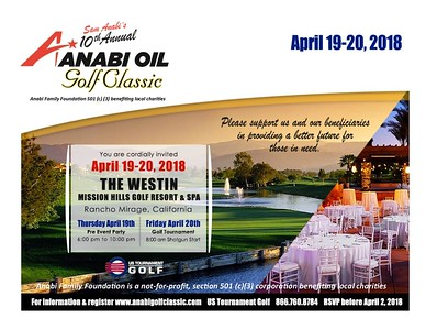 2018 Anabi Golf Classic & Pre Party at the Westin Mission Hills