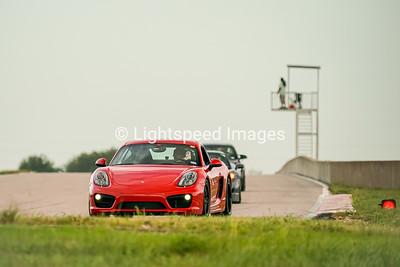 1 Red Porsche Cayman