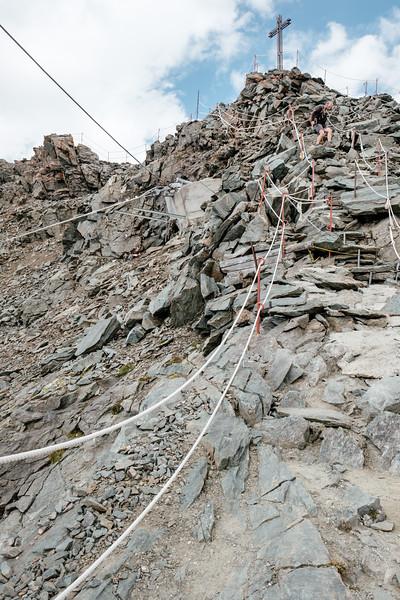 Cross on top of Mont Fort Verbier