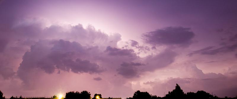 Lightning-backlit cloud