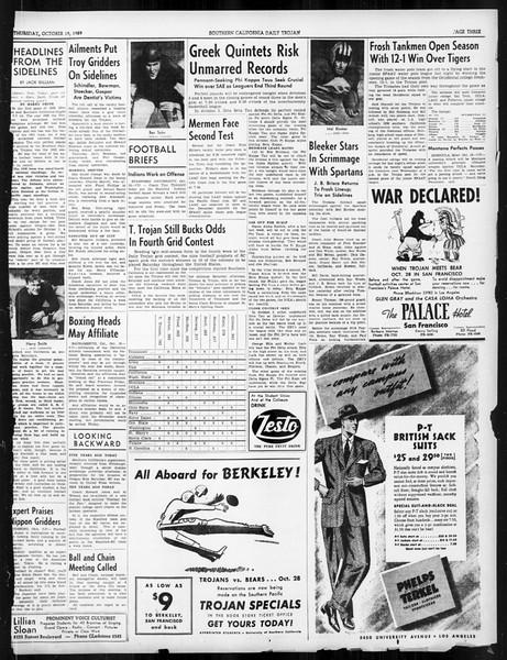 Daily Trojan, Vol. 31, No. 25, October 19, 1939