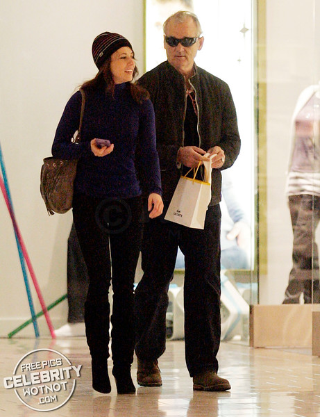 EXC: Bill Murray Christmas Shopping With Actress Linda Cardellini