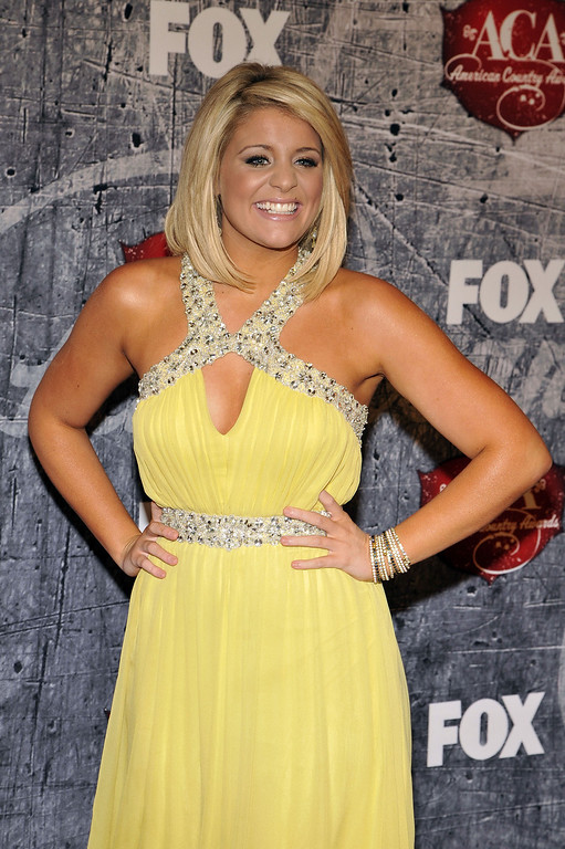 . Singer Lauren Alaina arrives at the American Country Awards on Monday, Dec. 10, 2012, in Las Vegas. (Photo by Jeff Bottari/Invision/AP)