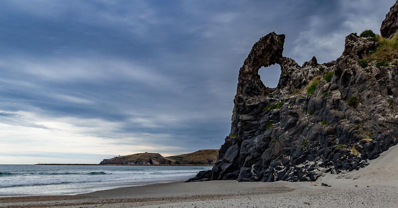 «Key Hole Rock» an der Aramoana