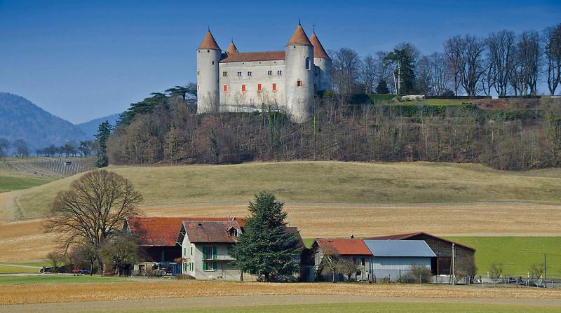 Le Château de Champvent, southwest Switzerland.