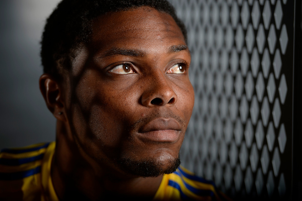 . COMMERCE CITY, CO - FEBRUARY 11: Mekeil Williams poses for a portrait during Colorado Rapids media day on Thursday, February 11, 2016. (Photo by AAron Ontiveroz/The Denver Post)