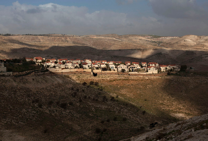 . In this photo taken on Sunday, Feb. 24, 2013, a  general view of the Jewish settlement of Maaleh Adumim is seen on the outskirts of Jerusalem. President Barack Obama is coming to town, and it seems like everyone in Israel wants to be a part of the historic visit. One invitation has come from Benny Kashriel, the mayor of the West Bank Jewish settlement Maaleh Adumim. Kashriel wants to host Obama in a contested area known as E-1, where Israel envisages construction of more than 3,000 apartments. (AP Photo/Sebastian Scheiner)