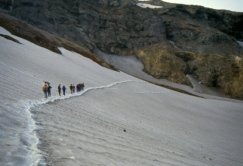 Approaching the Mutnovsky Volcano - Kamchatka, Russian Federation - Summer 1993