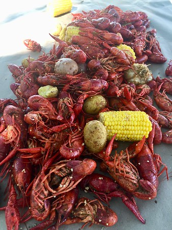2018 Crawfish Boil at the Gruber
