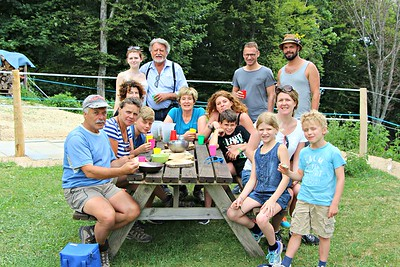 Family outing on the Salve mountain, July, 2015
