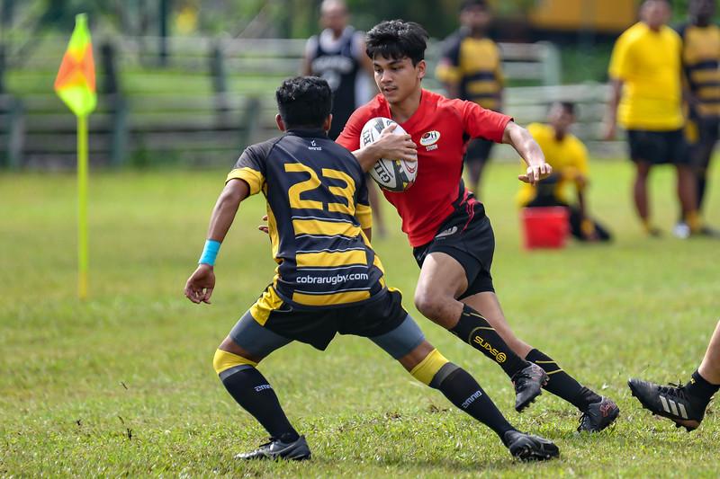KL Saracens in action against Cobra Stingers during a Liga KRS match 23rd June 2019. Photo by Tom Kirkwood/SportDXB