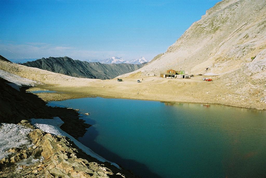 Officiëel het hoogst berijdbare punt in de Alpen. Pointe Sommeiller. 3050 meter.