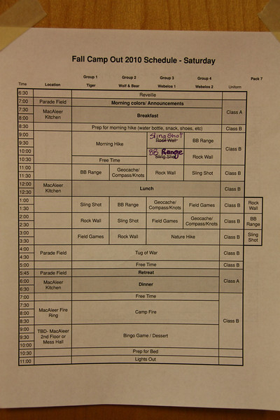 Busy schedule!