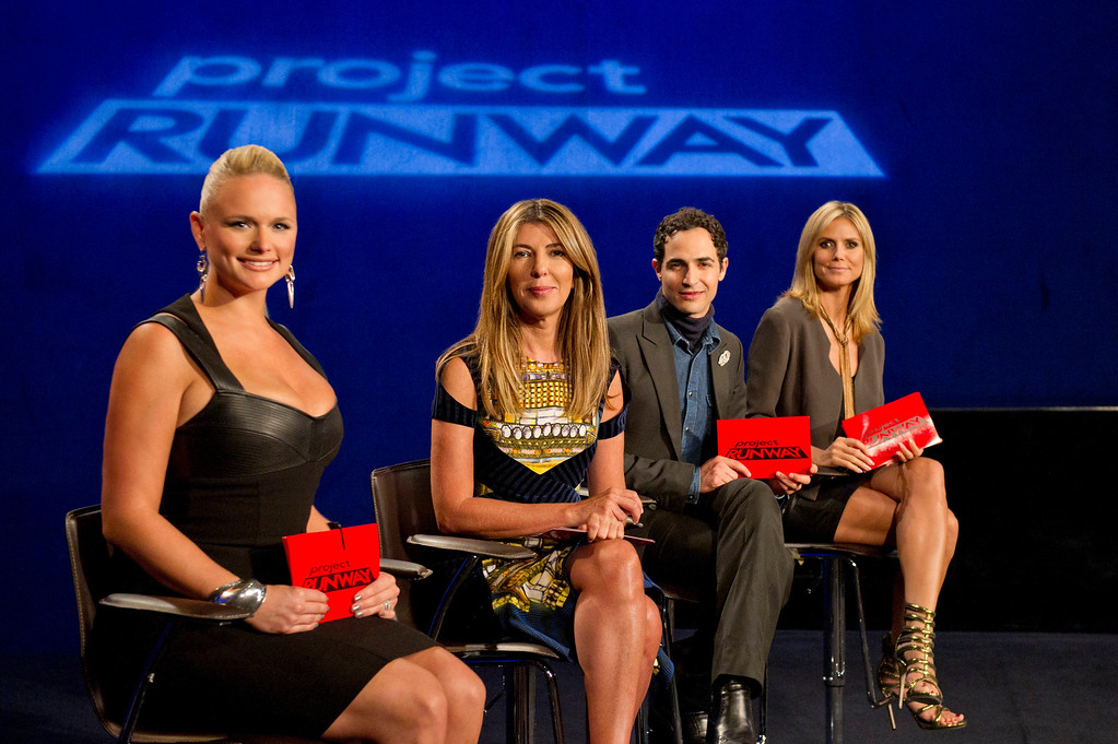 . Project Runway (L to R) Guest judge Miranda Lambert, Nina Garcia, Zac Posen and Heidi Klum judge Project Runway season 11, premiering Thursday, January 24, at 9pm ET/PT on Lifetime. Photo by Barbara Nitke Copyright 2012