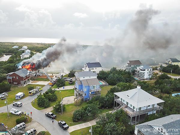 September 23, 2021, Mad Hatteras House Fire, Kinnakeet Shores,