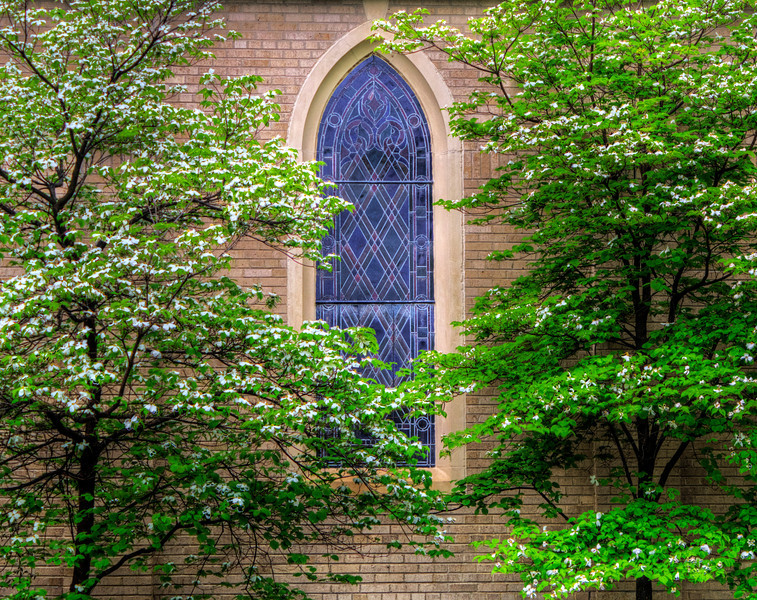 First Baptist Church Window, Newport, AR