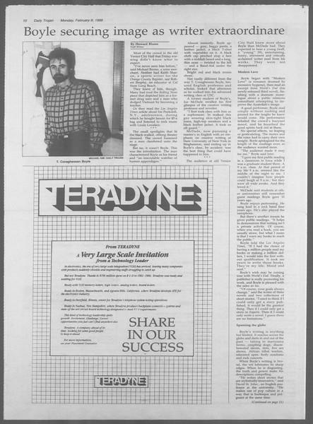 Daily Trojan, Vol. 106, No. 20, February 08, 1988