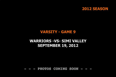 2012 Game 9 - Varsity -vs- Simi Valley