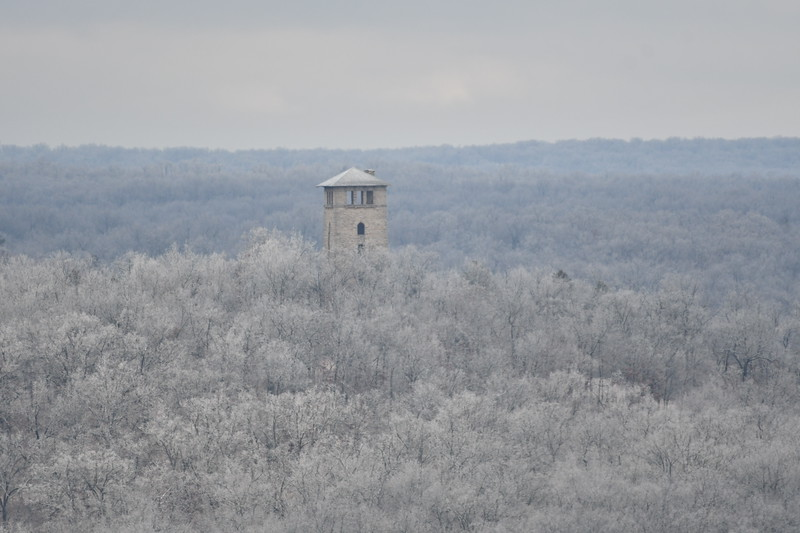water tower from same location at 500mm