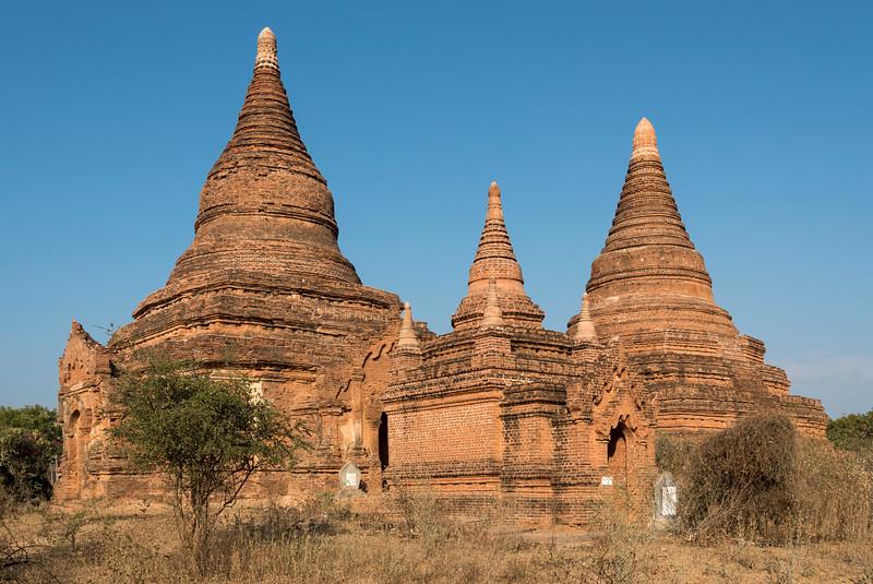 Pagoda on the central plain of Bagan, Burma - Myanmar