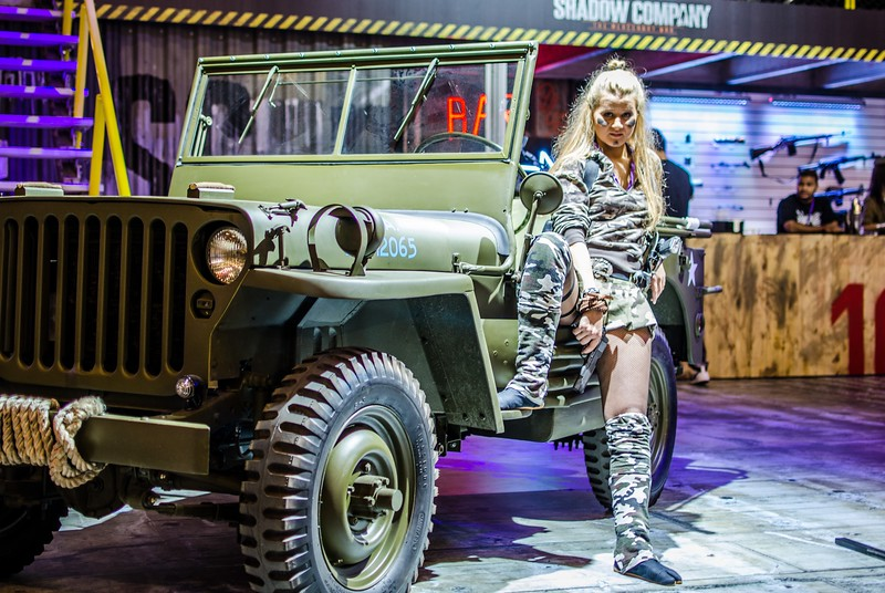 Girl and a Jeep at Igromir 2012