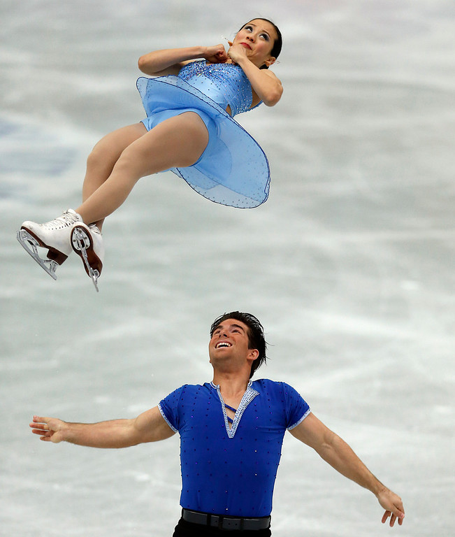 . Felicia Zhang and Nathan Bartholomay of the U.S. perform during the pairs short program at the ISU Four Continents Figure Skating Championships in Osaka, western Japan, Friday, Feb. 8, 2013. (AP Photo/Shizuo Kambayashi)