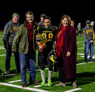 Vashon Island High School Fall Cheer and Football Seniors Night 2018