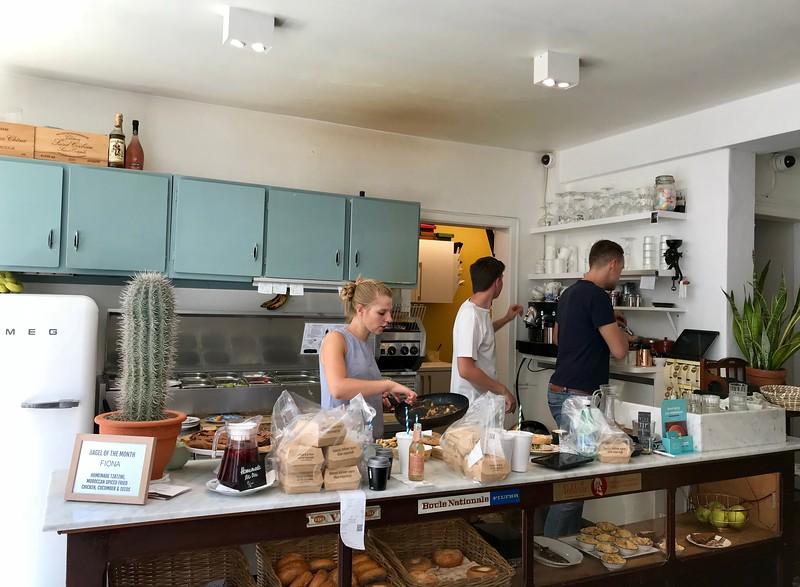 Bagel shop in Belgium (It was really good!)