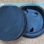 SKU: AG-CAP/50, Black Plastic Round End Cap for 50mm Tube, 2 Pieces, suitable for Printer Take-up Roller Bar