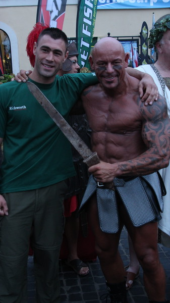 Ardy the Roman Warrior and the 2011 Champion