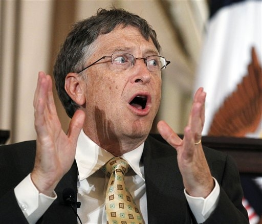 ". <p>10. (tie) BILL GATES <p>When it comes to chess, he�s the Houston Astros. (unranked) <p><b><a href=\'http://www.usatoday.com/story/money/business/2014/01/25/gates-takes-on-chess-champ/4894925/\' target=""_blank\""> HUH?</a></b> <p>   (Associated Press)"
