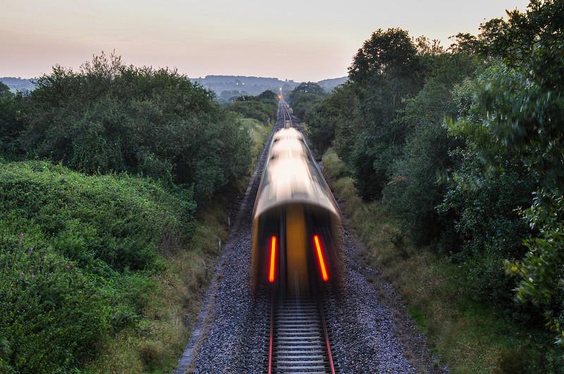 South Western Railway train in Somerset.
